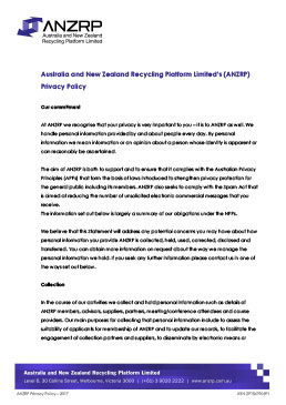 ANZRP Policy