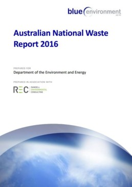 Australian National Waste Report 2016 document