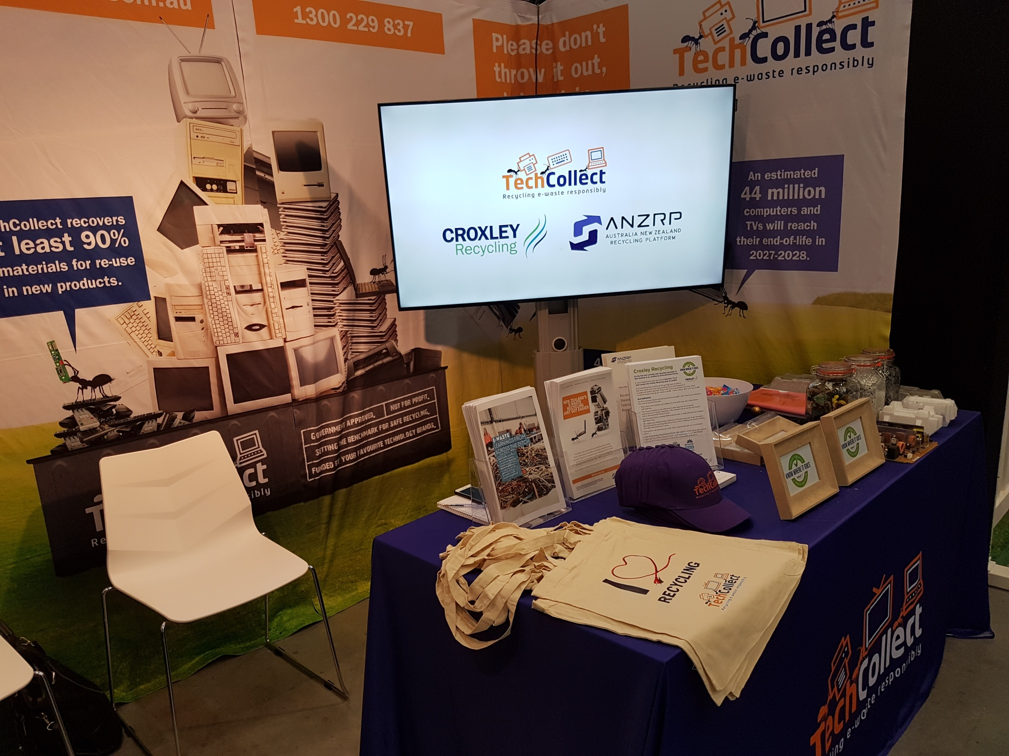 ANZRP TechCollect trade stand at WasteMINZ in New Zealand