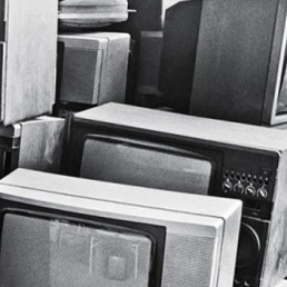 Old TV screens for recycling